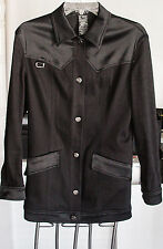 LAUREL JEANS MADE IN ITALY SIZE 34 CASUAL JACKET SIGNATURE BUTTONS SHARP $39.95