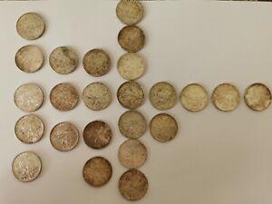 """24 pieces de 5 francs """"la semeuse"""" 1960 à 1967"""