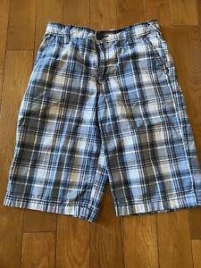 Old Navy Boys Shorts Size 14 Plaid Flat Front Shorts