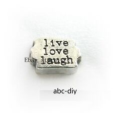 10pcs live love laugh  Floating charms For Glass memory floating Locket