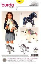 Burda 6495 Sewing Pattern Children Stuffed Animal Unicorn Horse Pegasus