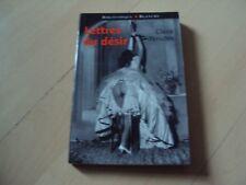 roman érotique   LETTRES DU DESIR - Claire YENIDEN