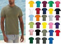 5 Pack Mens Fruit Of The Loom 100% cotton Original T Shirt Plain Regular Fit Tee