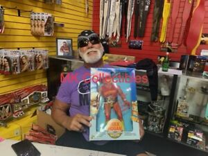 "WWF Hulk Hogan Signed 16"" LJN Wrestling Superstars FIGURE W/COA WWE"