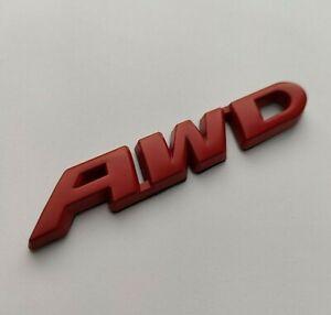 Rouge AWD Métal Emblème Badge Tout Roue Lecteur Pour Fabia Octavia Kodiaq Karoq