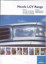 Mazda B Serie Pick Up & E Serie Van 1999-2000 ORIGINALE UK BROCHURE DI VENDITA