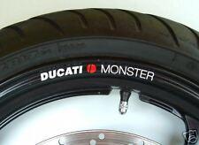 8 x DUCATI MONSTER Wheel Rim Stickers - 20 Colours - 600 620 695 696 750 796 900