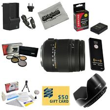 Sigma 18-250mm DC Macro OS HSM Lens Power Kit for Nikon D5100 D5200 D5300 DSLRs