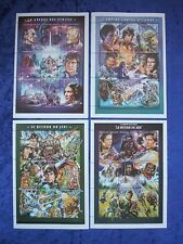 "FULL SET OF 4 STAR WARS 1997 MNH 5"" x 7"" STAMP SHEETS"