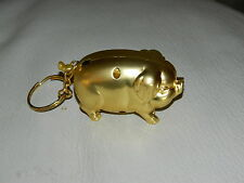 Cute Bronze Pig Shaped Butane Lighter Farm And Barn Keychain Lighter USA Stocked