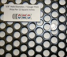 Custom Perforated Steel, 5/8 inch hole, 7 gauge, Price per 12 square inches
