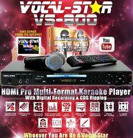 VOCAL-STAR VS-800 CDG DVD HDMI BLUETOOTH KARAOKE MACHINE 2 MICS & 150 SONGS A