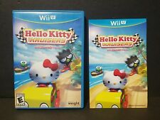 Hello Kitty Kruisers With Sanrio Friends (Nintendo Wii U, 2014) Case and Manual