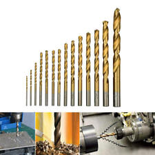 50pc HSS Metric Drill Bit Set Titanium Coated Twist Drills Metal Wood 1-3mm sfg
