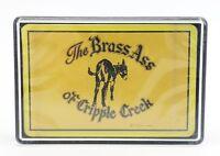 Vintage Playing Cards Deck The Brass Ass of Cripple Creek Sealed Deck Souvenir