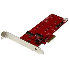 StarTech 2x M.2 SSD Controller Card - PCIe PEX2M2