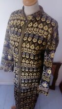 Vintage 1960s Tapestry maxi Coat Dress Welsh wool style