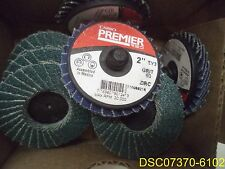"Pack of 10: Carbo Premier 2"" 60 Grit Sanding Discs Za Resin Cloth Part 776960"