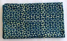 5 Yard indian Hand Block Print indigo Blue Cotton Ninja Design Dabu fabric M#345