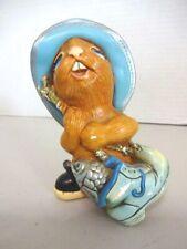 Vtg Pendelfin Whopper Hand Painted StoneCraft Bunny Rabbit Figure England