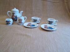 1997 Steiff Germany 7 Piece Teddy Bear Tea Party Set