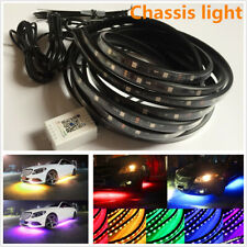 4x Colorful Chassis Lamp 5050SMD 210 Model Strip Car Tube Underglow APP Control