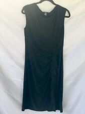 Chaps Sleeveless A Line Dress Black Size L Bias Drape Ruffled Sexy Romantic