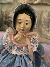 """NR Doll Artist Wooden Peg Hitty Dolls Multi Jointed Wood 12"""""""