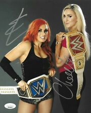 BECKY LYNCH & CHARLOTTE FLAIR WWE DIVA SIGNED AUTOGRAPH 8X10 PHOTO W/ JSA COA