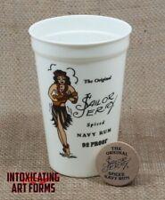 ORIGINAL SAILOR JERRY SPICED NAVY RUM PLASTIC TIKI CUP MUG & ALOHA MONKEY CHIP