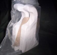 "WOODEN CURTAIN BRACKETS, French White 8"" Return for 2"" diam ROD_POLE. SEALED 1pr"