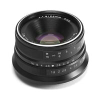 7artisans 25mm f/1.8 Manual Focus Prime Fixed Lens (Black) for Sony E-Mount