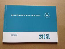 Rare Classic Mercedes Pagoda 1963->1967 w113 230SL Owner's Manual Hand Book