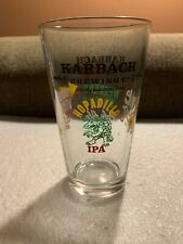 Karbach Brewing Company Beer Pint Glass with Craft Brewery Logos