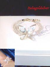 Bracciale Donna SWAROVSKI ORIGINALI Oro Giallo Ragazza Cristalli Gioielli Sposa
