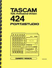 Tascam 424 Portastudio OWNER'S MANUAL