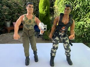 """Action Man Dolls Toys Military Soldier Camo Outfits Size 12"""" Tall 1996-99 Bundle"""