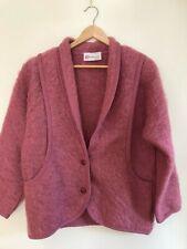 Ladies PITLOCHRY OF SCOTLAND Pink MOHAIR Coat/Cardigan Size Medium Womens