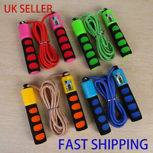 Kids Adults Skipping Jump Rope w/ Counter Exercise Jumping Game Fitness Activity