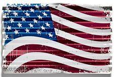 US FLAG United States American Flag Embossed Corrugated Metal Sign Den Man Cave