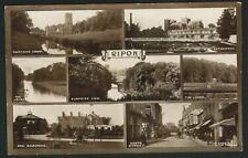 Postcard - Multi Views, Ripon,Yorkshire - Real photo