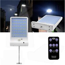48 LED Solar Powered PIR Sensor Flood Security Light Outdoor Garden Wall White
