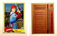Ted Simmons Signed 1981 Topps #705 Card St. Louis Cardinals Auto Autograph