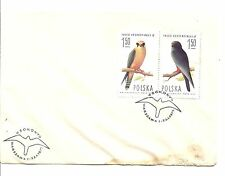 Poland Minkus #2076 & 2077 - Red Footed Falcon - First Day of Issue