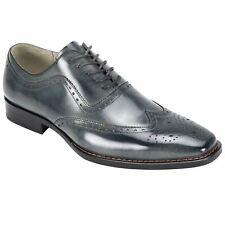Giovanni Ferrara Grey Wingtip Oxford Shoes