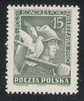 Poland 1950 MNH Mi 564 Sc 486 Worker & dove.Polish Peace Congress, Warsaw **