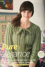 KNITTING PATTERN Ladies Cable Striped Cardigan with Neck Tie Long Sleeve Sublime