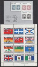 CANADA #756a + 832a  -- CAPEX & FLAGS SOUVENIR SHEETS -- (5) EACH - 1978 - MINT