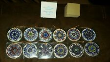 The Reco Kaleidoscope Collection Ornaments Set of 12 1987 Christmas Japan