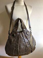 ROBERTO UGGARI Italy Handtasche Tasche Lackleder Kroko Shopper